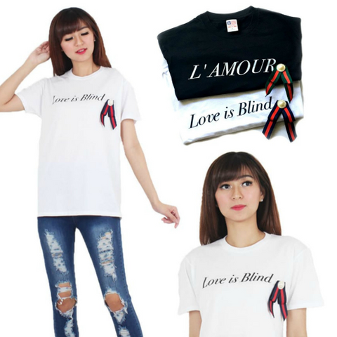 Bow Fashion Slogan Tee