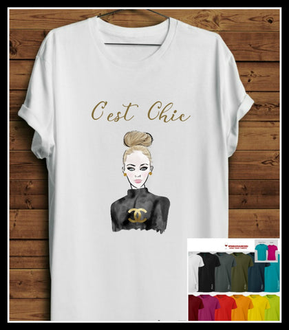 Short Sleeve Cest Chic T-Shirts