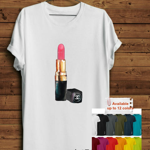 Short Sleeve Pink Lipstick T-Shirts