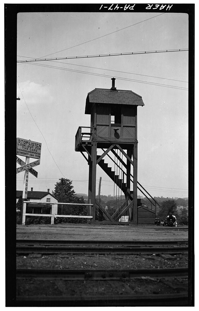 HO Erie Crossing Gate Tower - ITLA