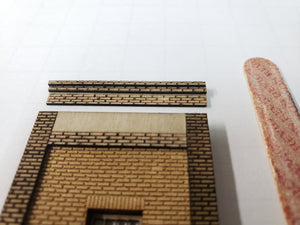 "1.5""W x 5.5"" HO4150 Brick Wall Panel Kit - Cut Stone Foundation - One Pair with Windows - ITLA"