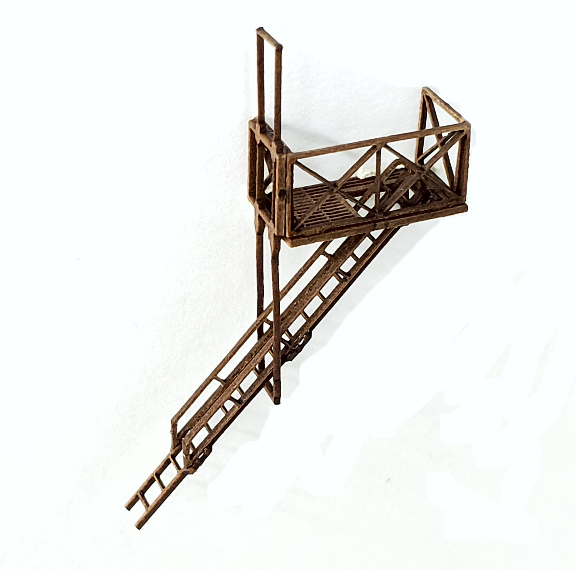 N Scale Fire Escapes - Set of 3 with Roof & Ground Access - ITLA