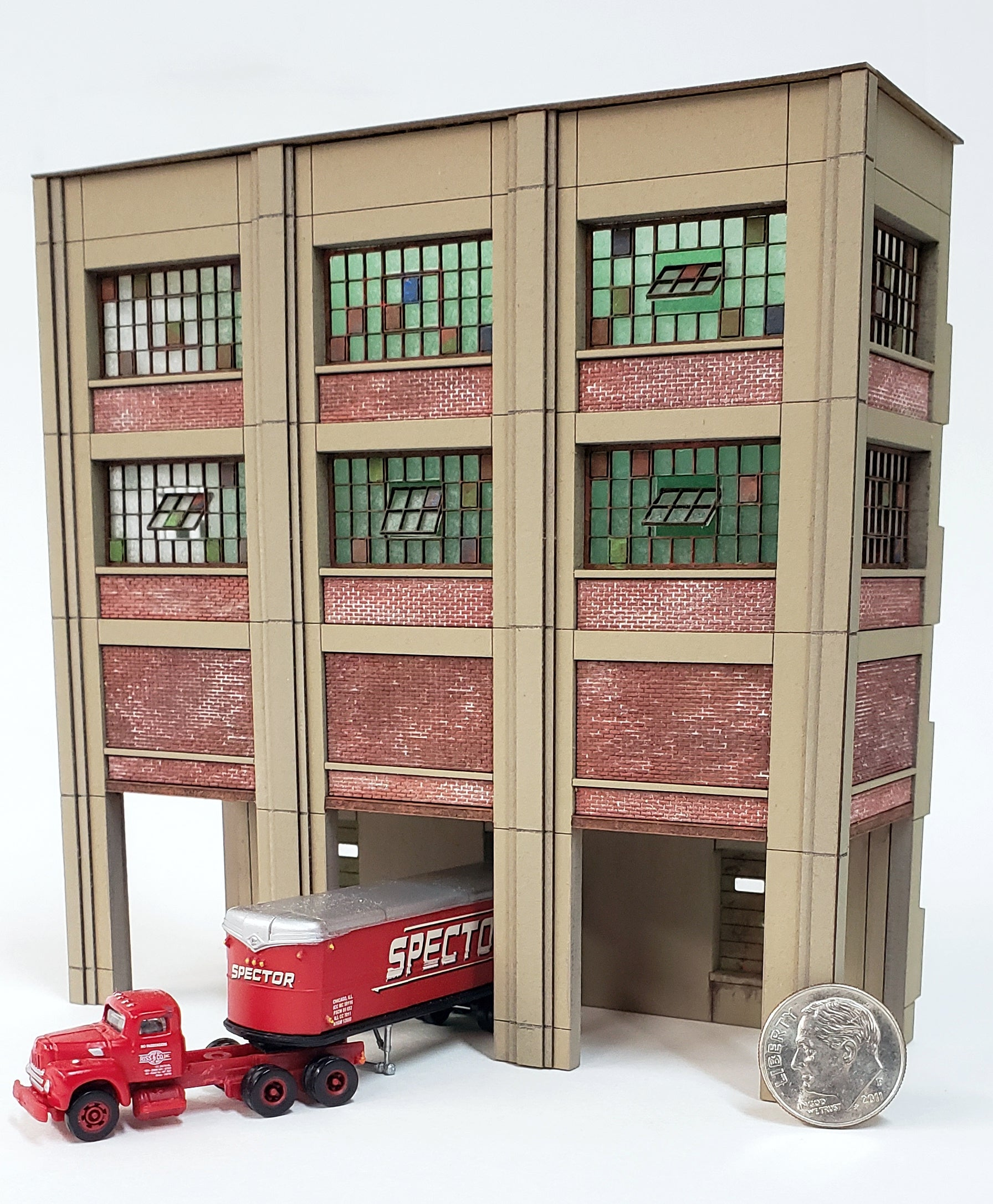 N Scale Industrial Wall Module - Rail / Truck Loading Dock Assembly - ITLA