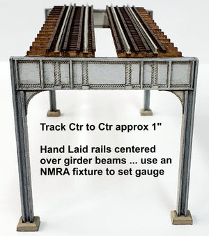 "N scale ""New York"" style - 2 Track Elevated ""Starter"" Kit - ITLA"