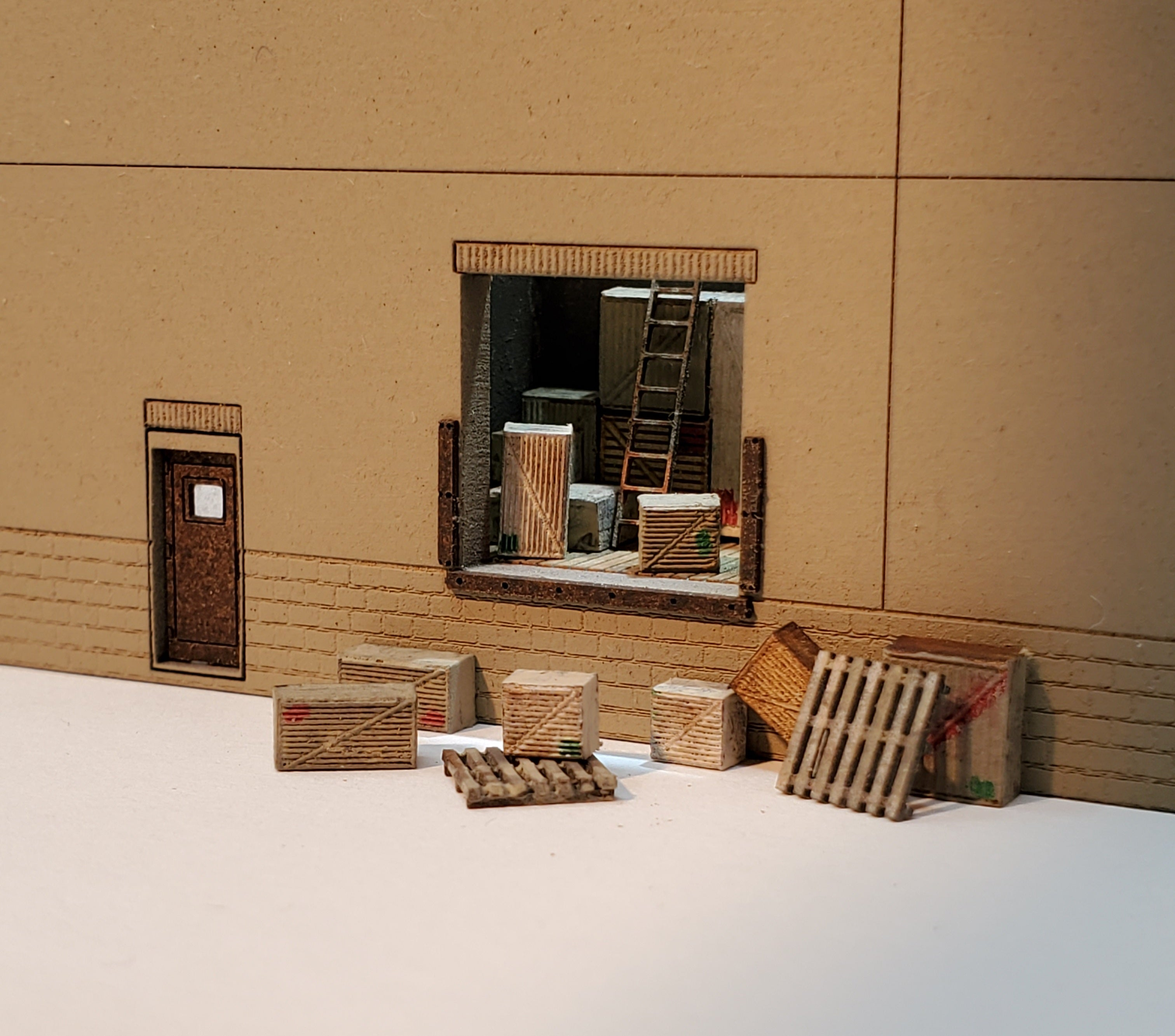 N Scale Loading Dock Interior Kit - TWO Interiors - ITLA