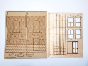 "O / On30 Scale - 3"" Brick Wall Pair - ITLA"