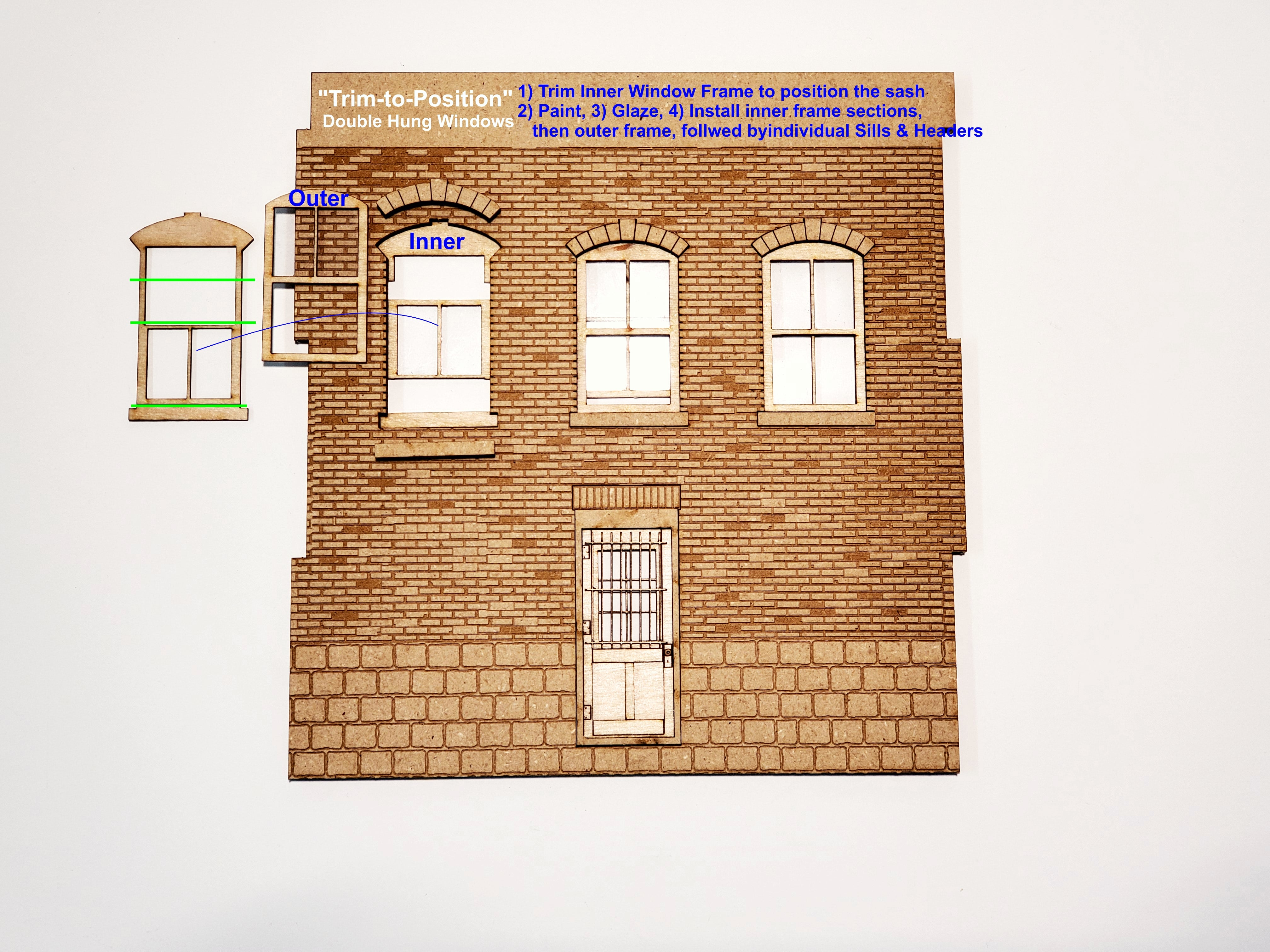 O / On30 Scale - Brick Front Wall Panel - ITLA