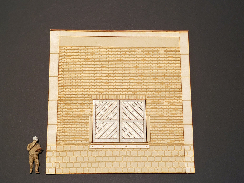 O / On30 Scale - Brick Loading Dock Wall Panel - ITLA