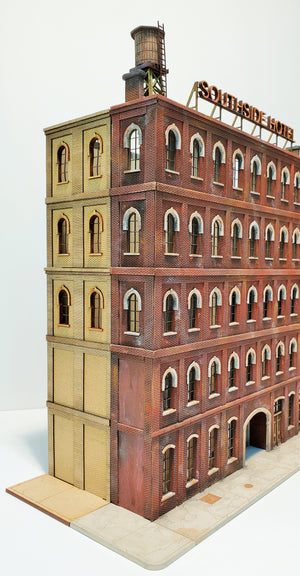 HO Scale Southside Hotel SIDE WALL EXPANSION Kit - ITLA