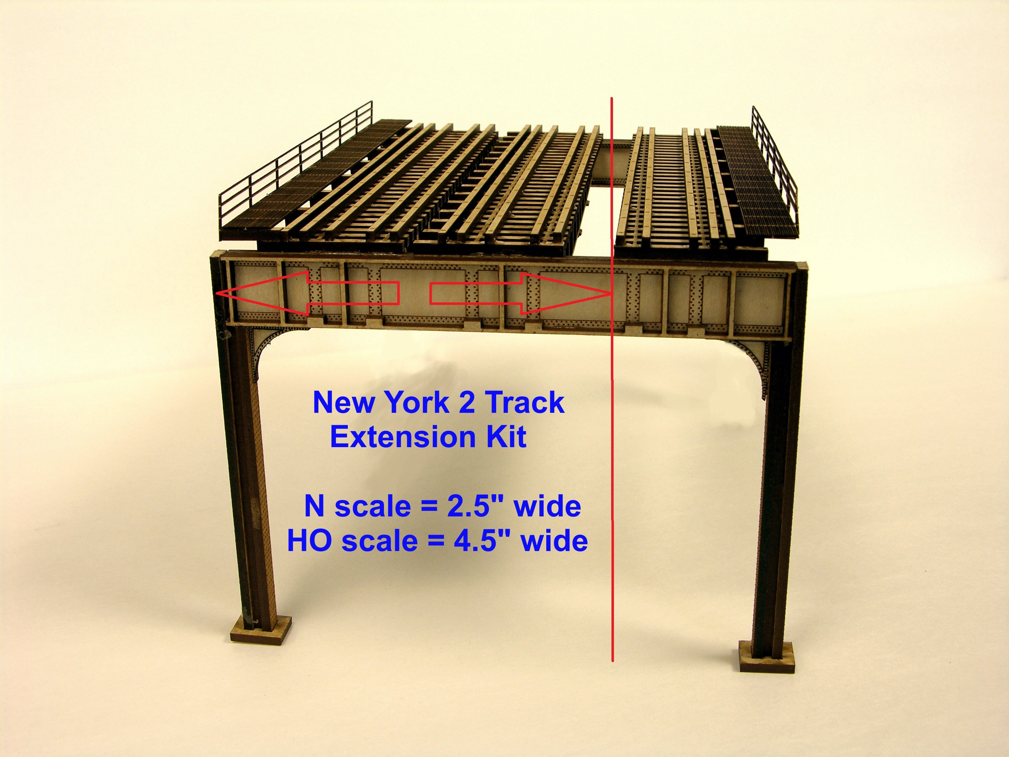 HO/N - New York style - 2 Track Deluxe Extension Kit - ITLA