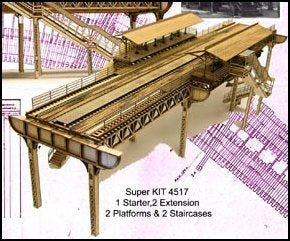 HO/N - 5 Piece Elevated Railway Structure - ITLA