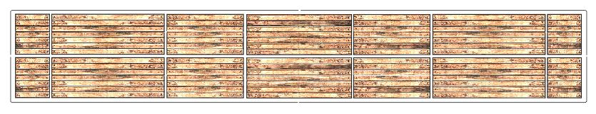 O Scale Atlas 52 ft 6 inch Wood Flat Car Deck - ITLA