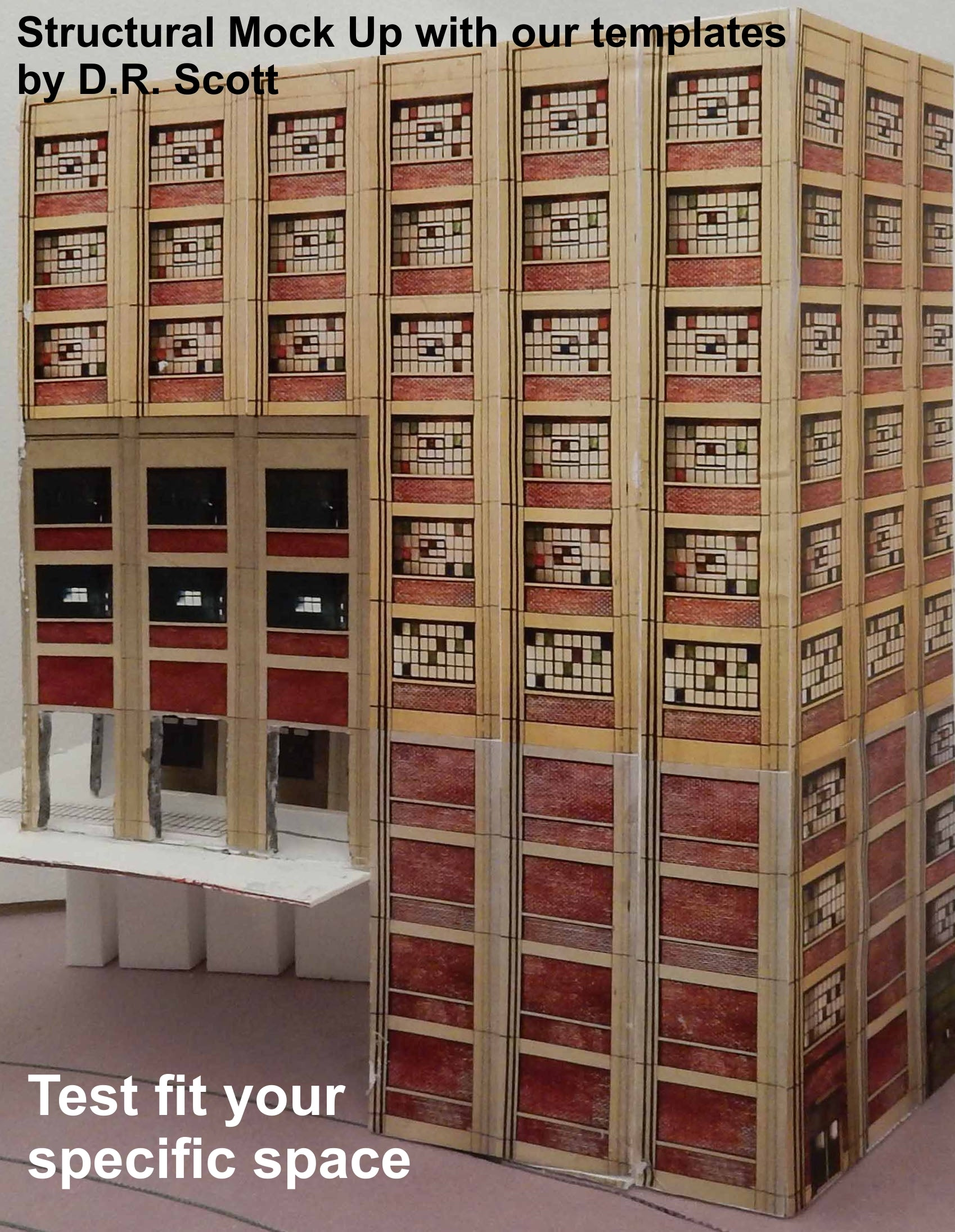 FREE PRINTABLE TEMPLATES - HO Scale Industrial Wall Module Line - ITLA