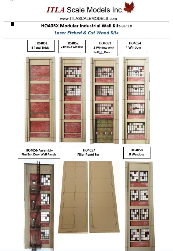 HO Scale Industrial Wall Modules - ITLA