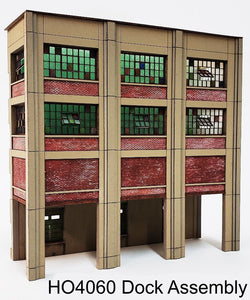 HO Scale Industrial Wall Module - Rail / Truck Loading Dock Assembly - ITLA