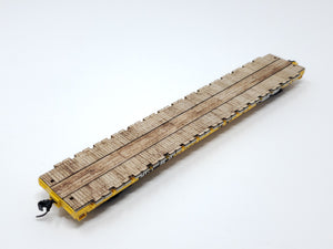HO Walthers 60ft Pullman-Standard Wood Flat Car Deck - model 910-5307 - ITLA
