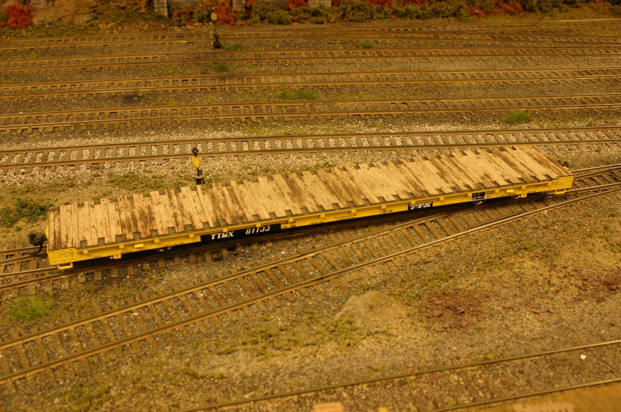 O Scale Atlas Trainman 68ft Wood Flat Car Deck - ITLA