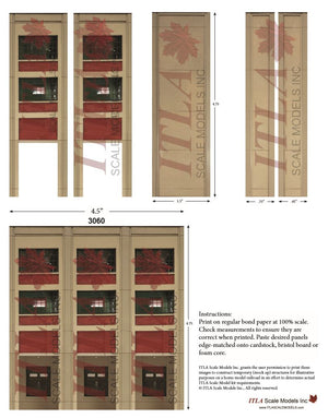 FREE PLANNING TEMPLATES - N Scale Industrial Wall Module Line - ITLA