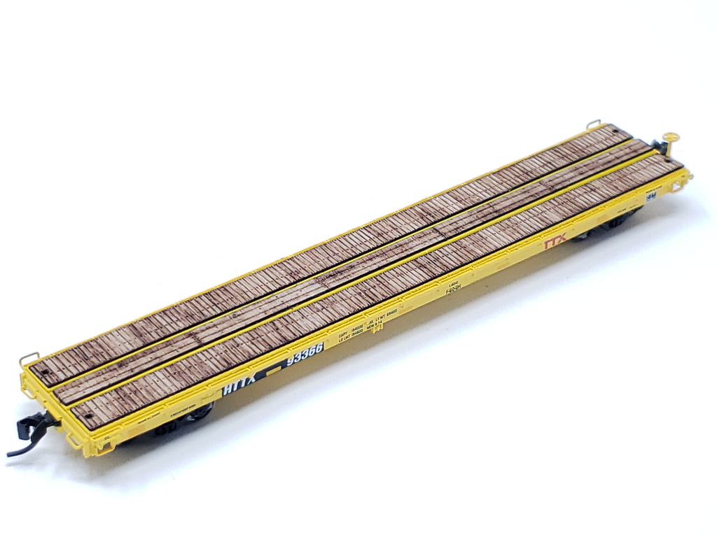 N scale Intermountain 60ft Pullman-Standard Wood Flat Car Deck (Set of 2) - ITLA