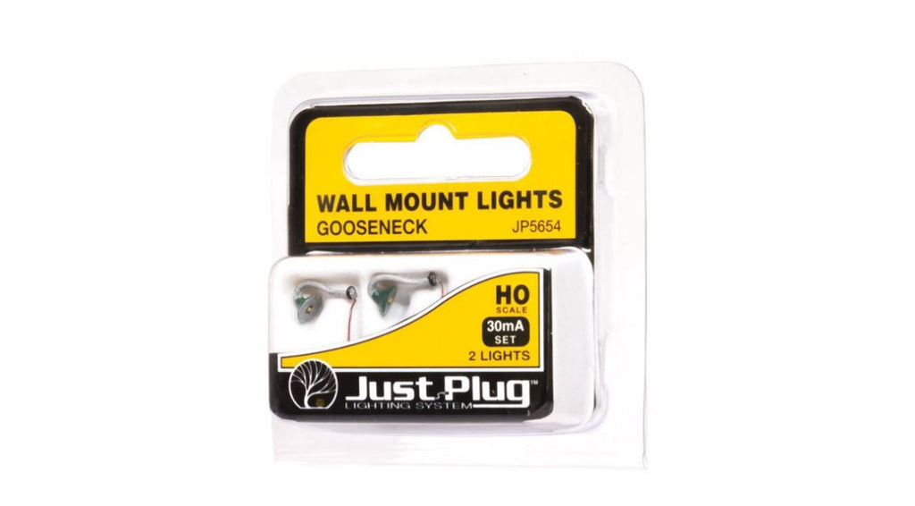 Woodland Scenics JP5654 HO Scale Gooseneck Wall Mount Lights - ITLA