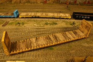 HO scale Atlas 62ft Bulkhead flatcar deck - ITLA