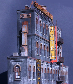 HO Scale Southside Hotel Kit - ITLA