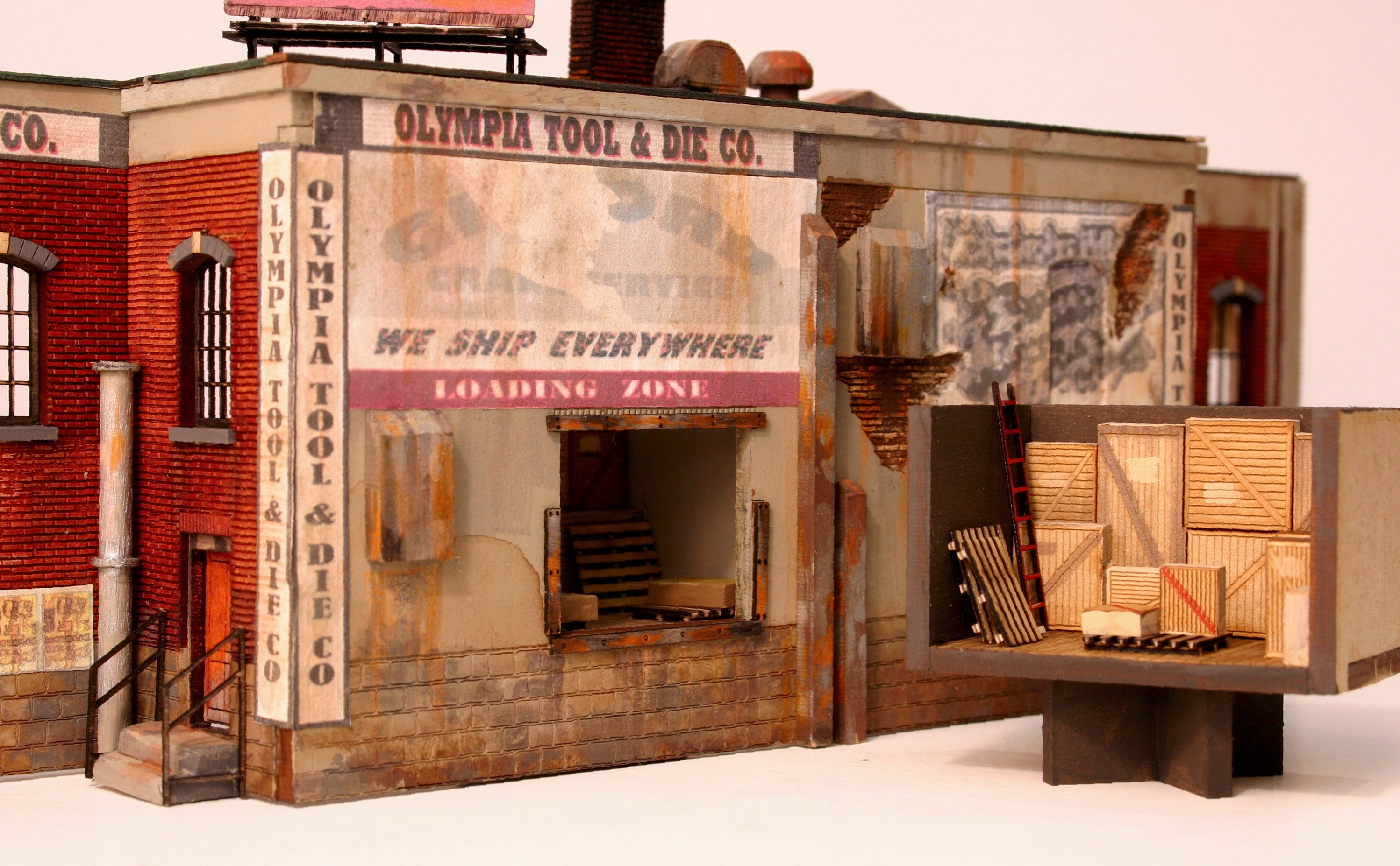 O Scale Loading Dock Interior Kit - ITLA