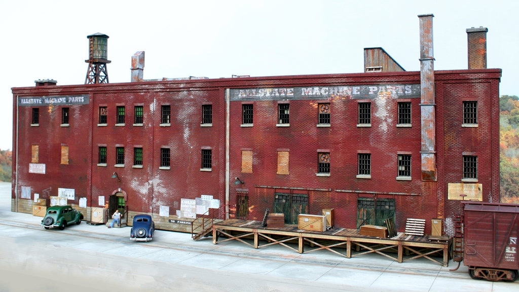"HO Scale Allstate Factory Building -  ""3 in 1 kit"" - ITLA"