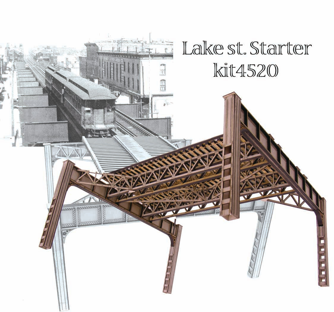 "HO Chicago ""Lake Street"" Elevated Railway Structure - ""Starter Kit"" - ITLA"