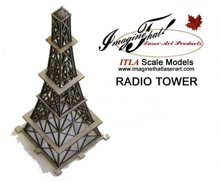 "Radio Tower - 6"" Tall - ITLA"