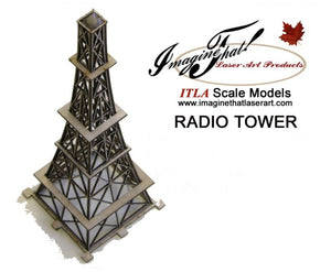 "Radio Tower - 8"" Tall - HO / S / O scale - ITLA"
