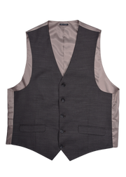 5 BUTTON V-NECK VEST - BROWN SHANGTUNG,