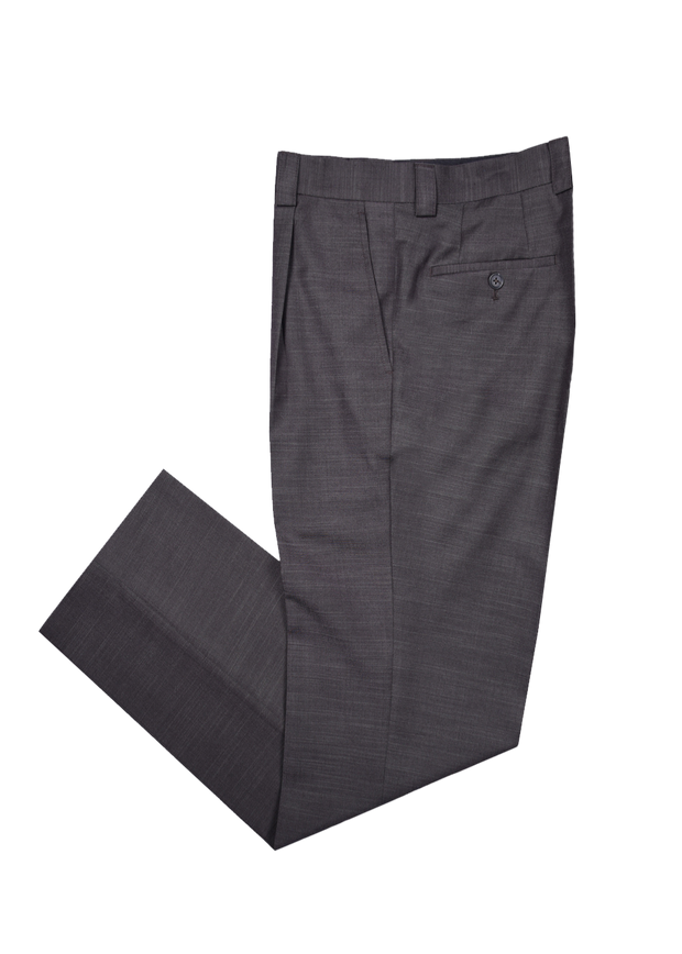 SINGLE PLEAT PANT - BROWN SHANGTUNG,