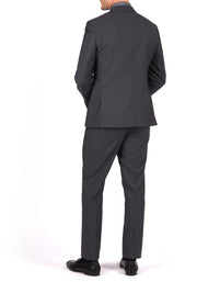 2B PEAK LAPEL SLIM JACKET - GREY PULSE SOLID,