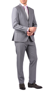 SAVILE ROW CO. SUIT PANT - PEARL GREY BI-STRETCH