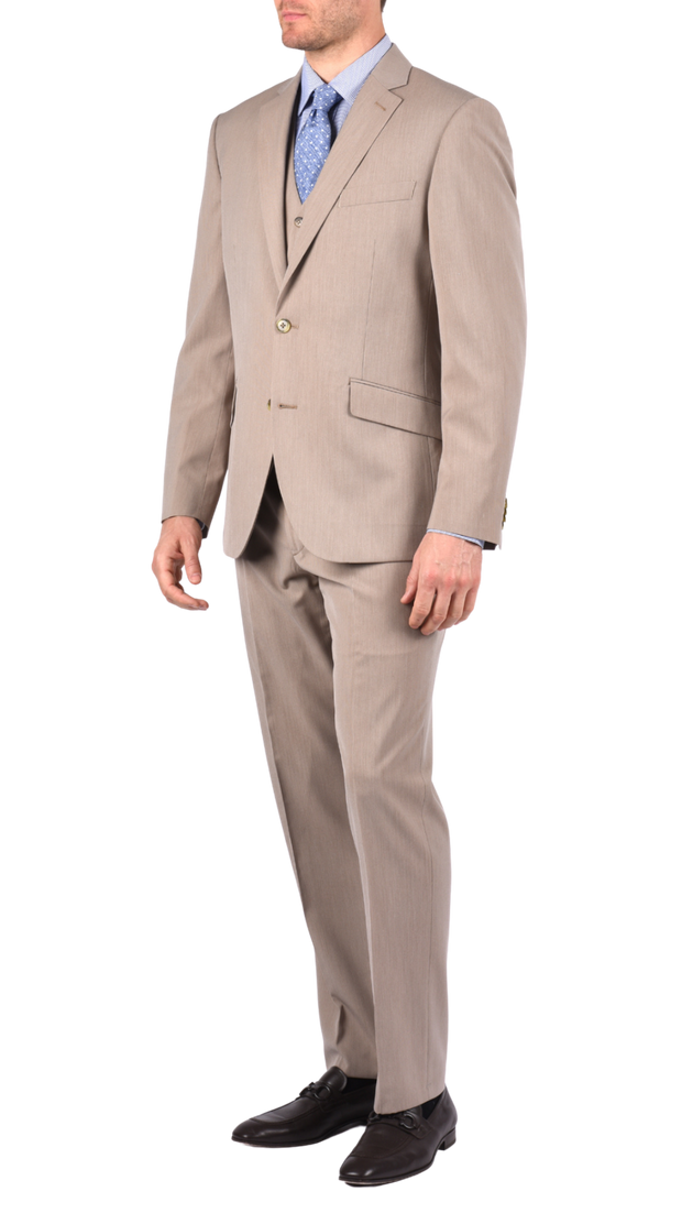 SAVILE ROW CO. SUIT PANT - TAN MICRO STRIPE,