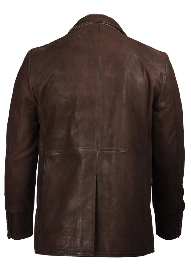 DISTRESSED LEATHER HYBRID - CHOCOLATE BROWN, FLYNT