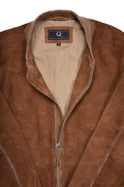 LIGHT WEIGHT LEATHER BOMBER - COGNAC, Q