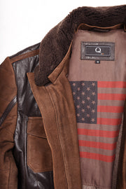 LEATHER MOTO - BROWN, Q