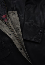 DISTRESSED LEATHER HYBRID - BLACK, FLYNT