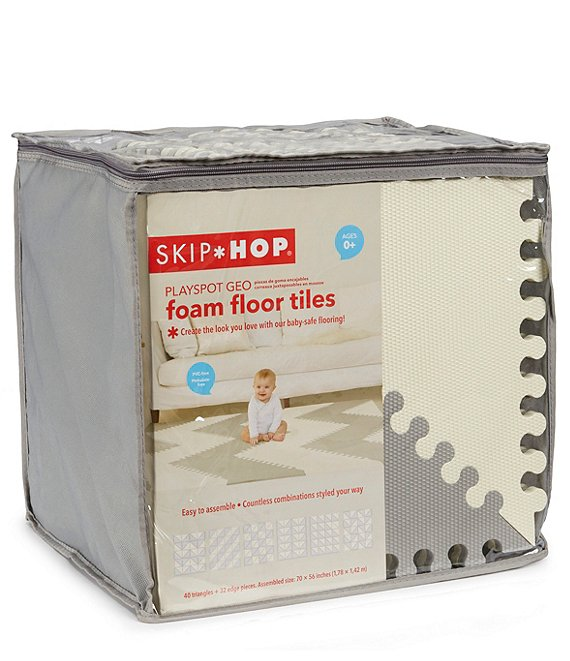 Foam Tiles- Grey/White