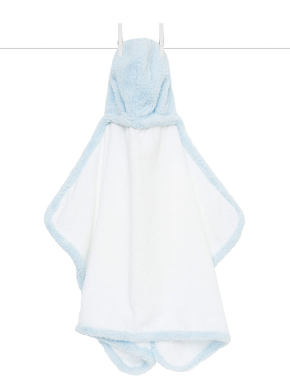 Chenille Hooded Towel Blue
