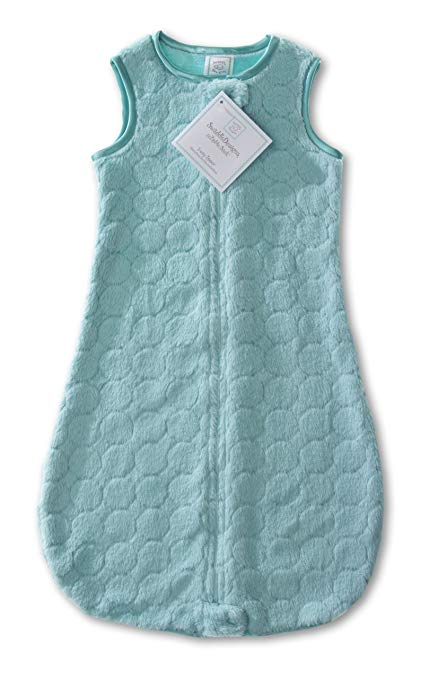 Cozy zzZipMe Sack with 2-way Zipper Puff Circles - Turquoise
