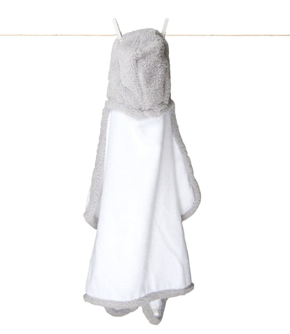 Chenille Hooded Towel Silver