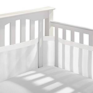 Breathable Baby Mesh Crib Liner White