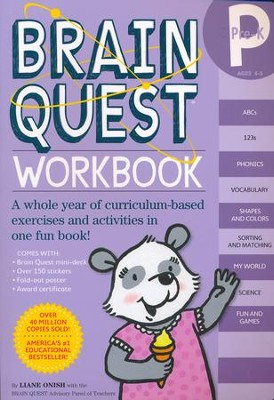 Brain Quest Pre K Work Book
