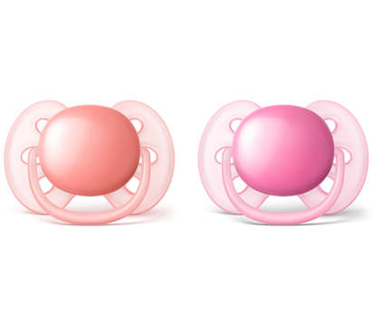 Ultra Soft Pacifier Infant 0-6m Pink