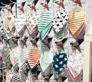 4 Pack Bandanna Bibs Assorted Prints