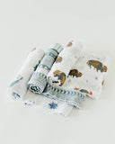 Cotton Muslin Swaddle 3 Pack Neutral/Boy