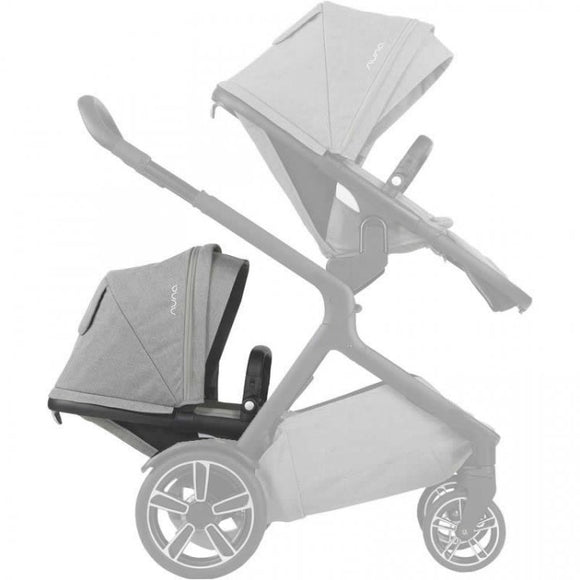 DEMI™ grow sibling seat + raincover + magnetic buckle
